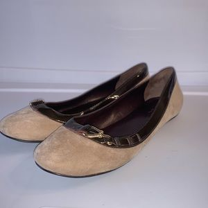 Cole Haan Tan Suede & Brown Patent Leather Size 9B